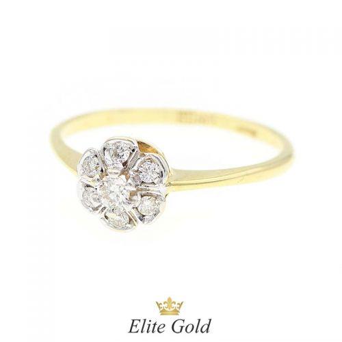кольцо Altera в лимонном золоте с бриллиантами
