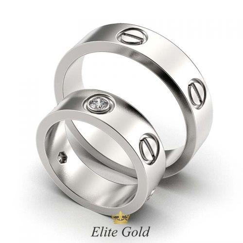 кольца Love in White в белом золоте