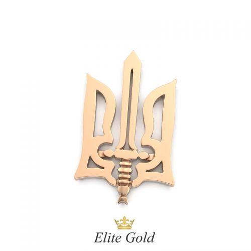 золотой кулон герб Украины