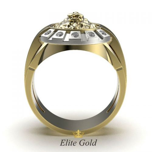 Золотое мужское кольцо с изображением Льва