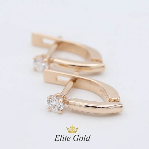 серьги в красном золоте с бриллиантами