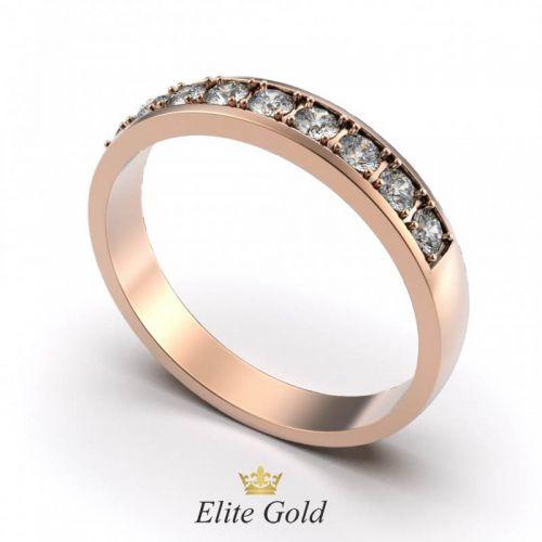 Элегантное женское кольцо Ellen с камнями по ободку