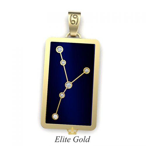 кулон Stella - лаконичная версия в желтом золоте