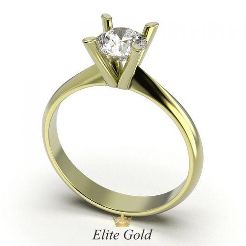 кольцо Jewel с крупным камнем в лимонном золоте