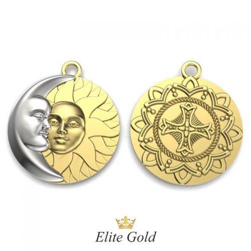 Дизайнерская подвеска Солнце и Луна