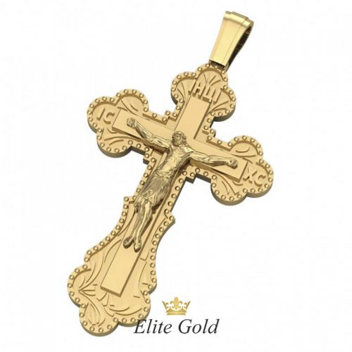 Авторский мужской крест Спаситель