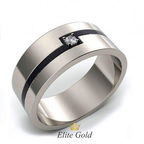 Лаконичное мужское кольцо Constante с ювелирной эмалью