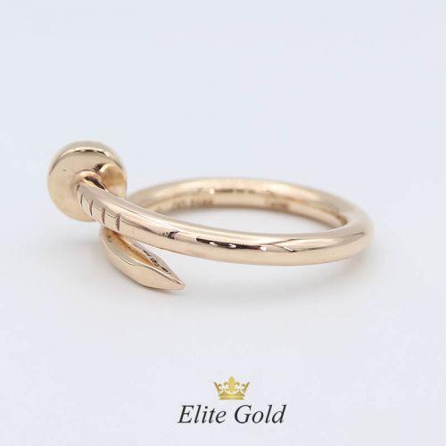 кольцо в стиле картье без камней в красном золоте