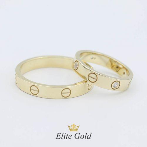 Кольцо в стиле Cartier Love Small в лимоном золоте
