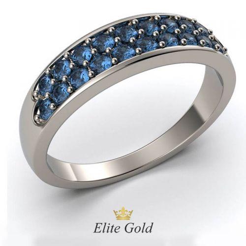 Авторское женское кольцо Concision в камнях по ободку