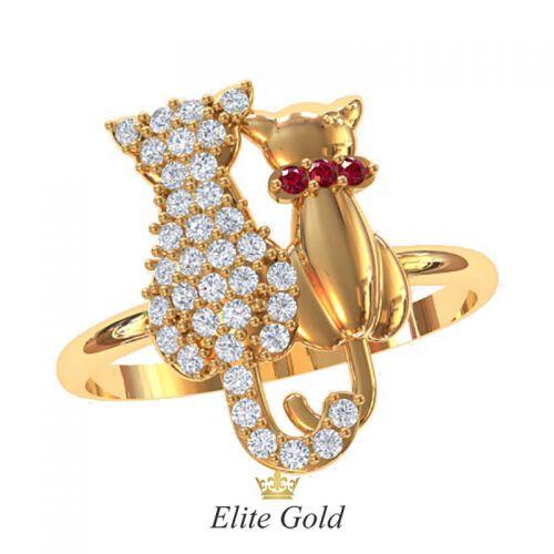 Дизайнерское женское кольцо Cats