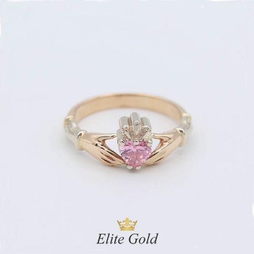 Авторское кладдахское кольцо Red Heart Petite