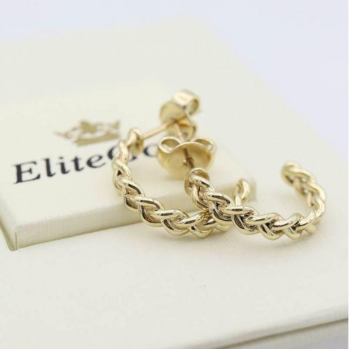 Эксклюзивные серьги-кольца Tress с плетеным узором