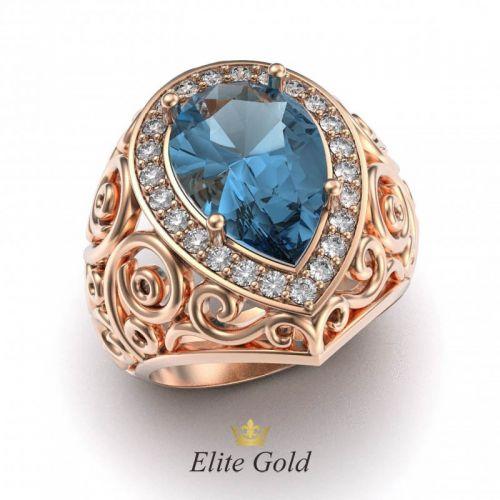 Эксклюзивный женский перстень Lаgrima pura с крупным камнем