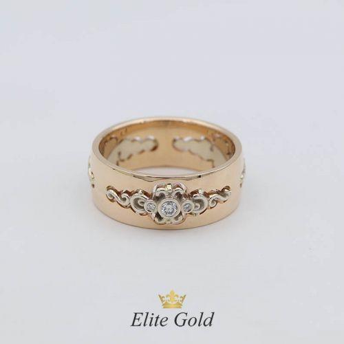 в красном и белом золоте с бриллиантами