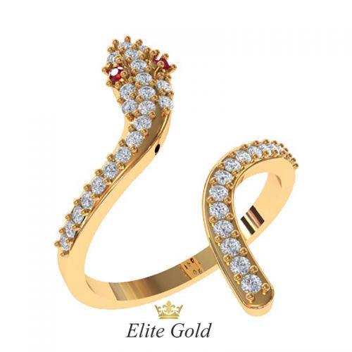 Дизайнерское женское кольцо El peligro в камнях
