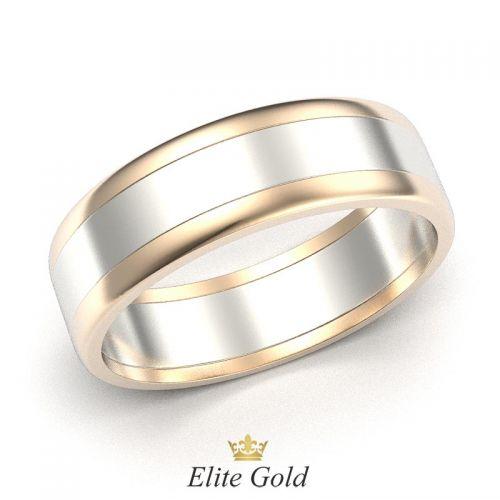 обручальное кольцо Berta в красном и белом золоте