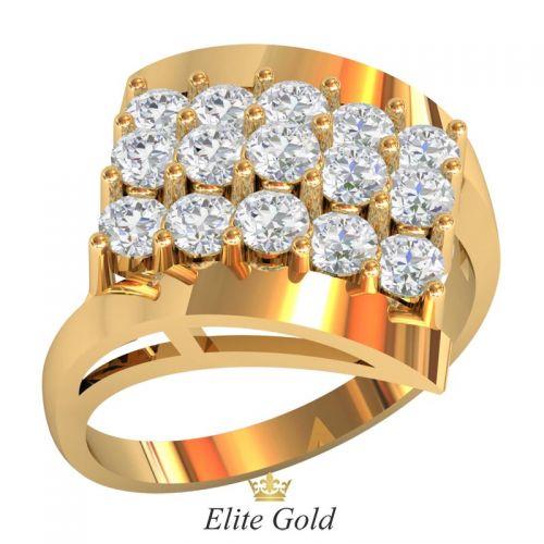 Эксклюзивное женское кольцо Leonora в камнях