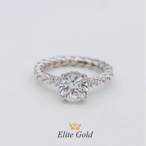 Авторское кольцо для помолвки Vintage Chic, усыпанное камнями по всей окружности