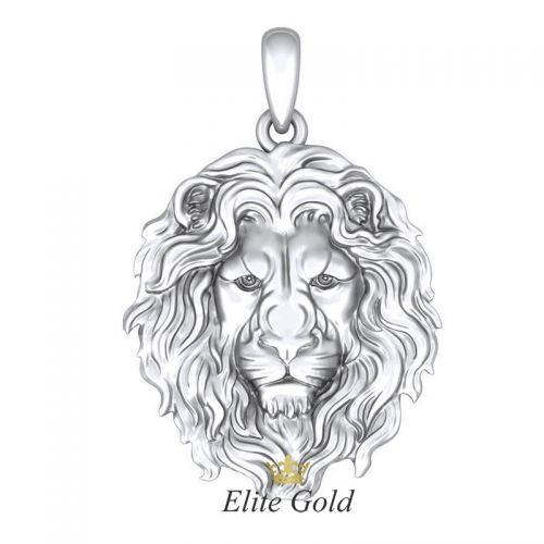 Авторский рельефный кулон Lion Head