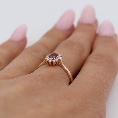 Авторское кольцо Princess Diana Petite