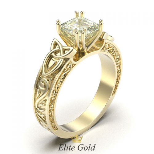 Авторское кольцо Radiance в лимонном золоте