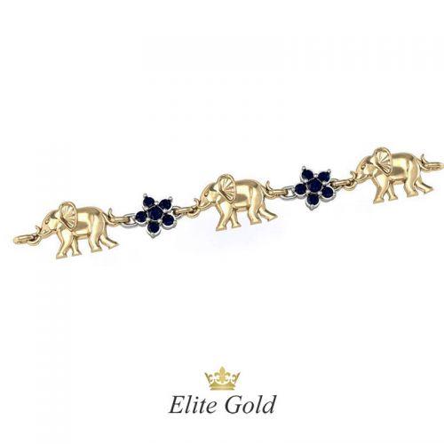 Дизайнерский браслет с изображением слонов