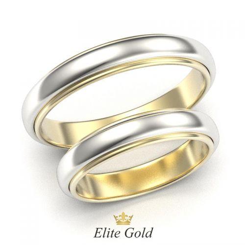 обручальные кольца Fabielle в белом и желтом золоте