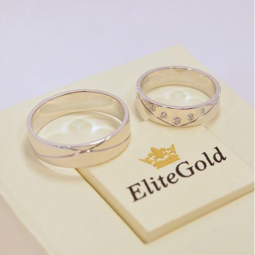 обручальные кольца в белом золоте 585 с бриллиантами