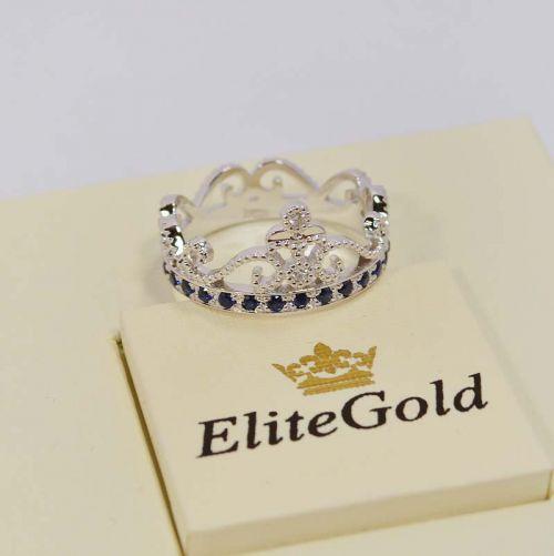 кольцо Cronprincess с бриллиантами и сапфирами