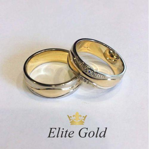обручальные кольца Bellezza в белом и лимонном золоте
