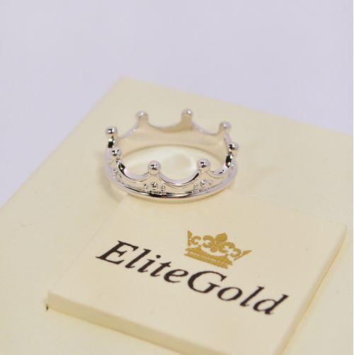 Авторское кольцо-корона в белом золоте