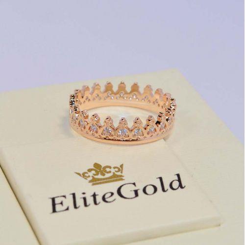 Tiara ring - Кольцо Корона в красном золоте