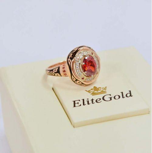 перстень Desert Sands в красном и белом золоте 585