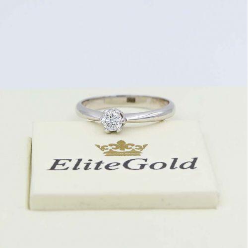 кольцо Cordelia в белом золоте с бриллиантом
