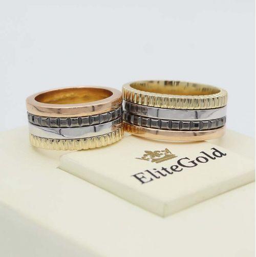 кольца Quatre Xtra в 3 цветах золота
