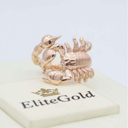 золотое кольцо Скорпион фото