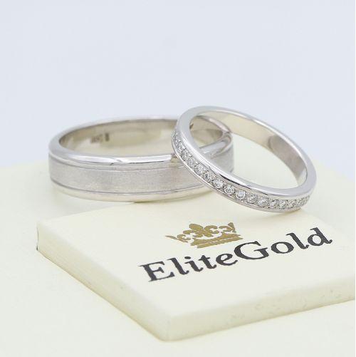 обручальные кольца Ardelis в белом золоте