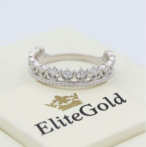 кольцо-корона Lissa в белом золоте