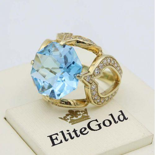 кольцо Vera с крупным топазом