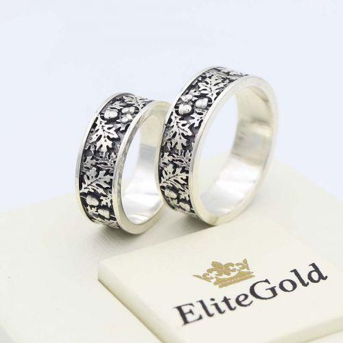 кольца в серебре с чернением