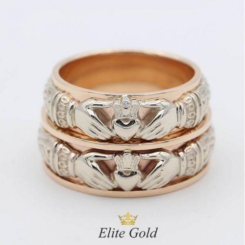 кольца Always & Forever в белом и красном золоте