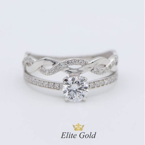 кольцо в белом золоте