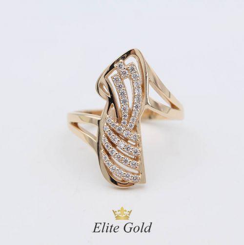 Авторское кольцо Amina с россыпью камней спереди