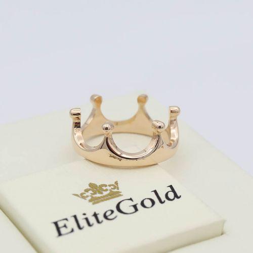 Лаконичное кольцо-корона Kali без камней