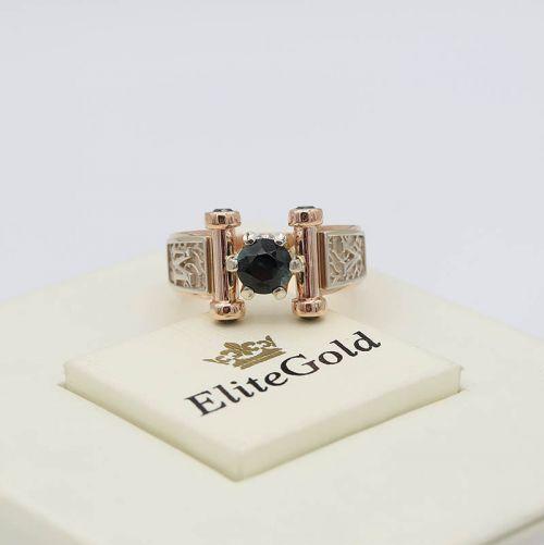 Авторский перстень Segreto с инициалами и крупным камнем в центре