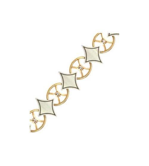 женский гибкий браслет с ромбами