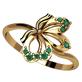 женское кольцо лепестки желаений