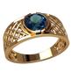 кольцо в сеточку с камнем