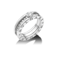 Кольцо в стиле BVLGARI ZERO с центральным камнем в белом золоте